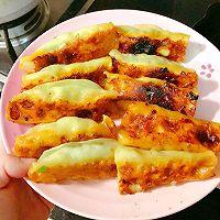 鲜肉韭菜杏鲍菇锅贴的做法图解7