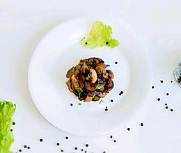 #换着花样吃早餐#素炒双菇的做法