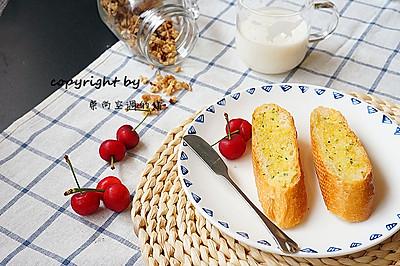 蒜香法棍面包#美的微波炉菜谱#