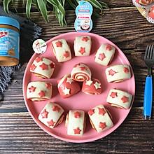 #四季宝蓝小罐#花生酱双色馒头 一次发酵更简单