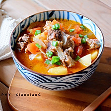 西红柿土豆炖牛腩#金龙鱼外婆乡小榨菜籽油 外婆的时光机 #