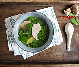 #硬核菜谱制作人#枸杞叶猪肝汤的做法