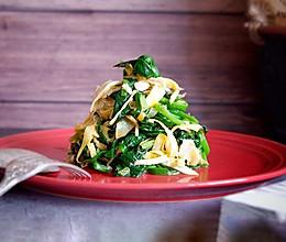黄金虾皮拌菠菜的做法