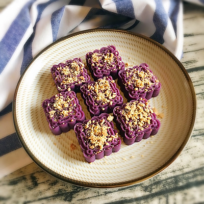 坚果紫薯糕