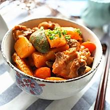 #百年栗园油鸡试用#泰式红咖喱鸡块