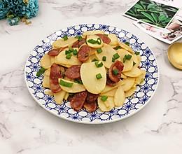腊肠茨菇片的做法