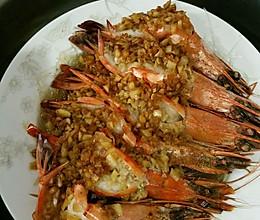 蒜蓉粉丝蒸大明虾的做法