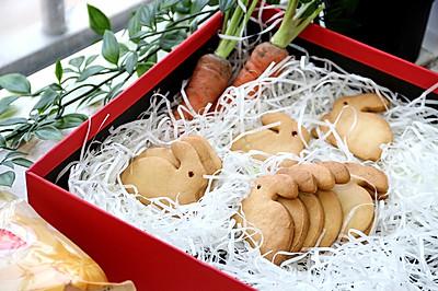 可爱卡通兔子造型饼干