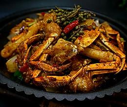 香辣蟹炒年糕---又到一年吃蟹时的做法