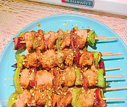 彩椒鸡肉串的做法
