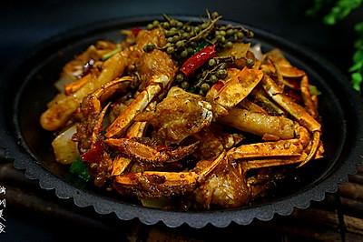 香辣蟹炒年糕---又到一年吃蟹时