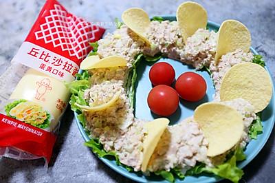 创意低脂营养餐 |  西芹金枪鱼花环沙拉
