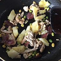 腊味菠萝鸡丁焖饭的做法图解7