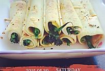 夏日休闲小菜干豆腐香菜小葱卷的做法