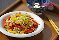 彩椒拌金针菇的做法