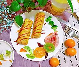 快手营养早餐香蕉吐司卷的做法