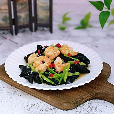 虾仁芹菜炒木耳