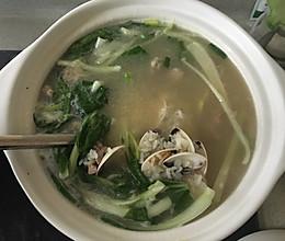 砂锅瘦肉花甲白菜粥的做法