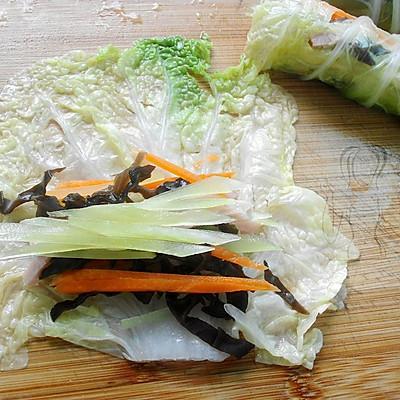 蒸白菜卷 #方太蒸爱行动#的做法 步骤5
