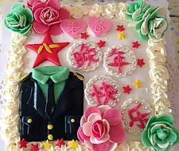 军人元素奶油蛋糕的做法
