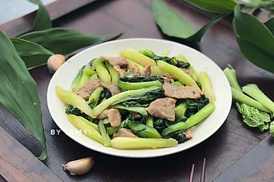 肉片炒白菜心