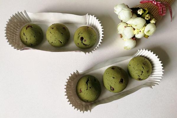 抹茶蔓越莓麻糬的做法