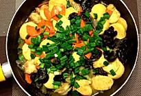 鲜虾日本豆腐煲的做法