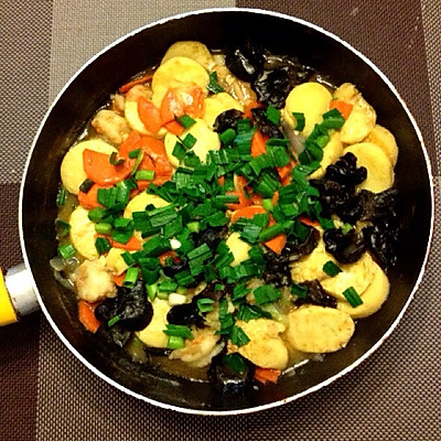 鲜虾日本豆腐煲
