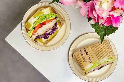 10分钟系列早餐之罗勒煎龙利鱼三明治