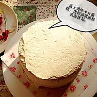 6寸水果奶油花篮裱花蛋糕(附戚风蛋糕制作)的做法图解15
