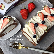日式巧克力棉花蛋糕卷