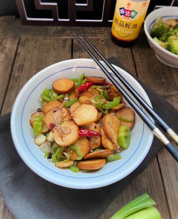青椒炒豆腐卷的做法