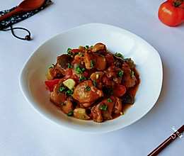 洋葱咖喱酱茄鸡的做法