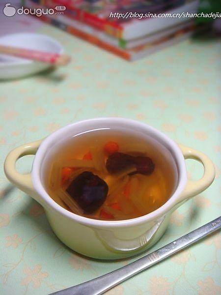杞枣芹菜汤的做法