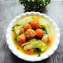 白菜豆腐丸子汤