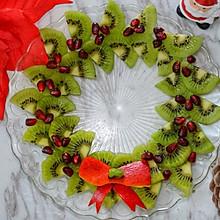 圣诞花环水果拼盘