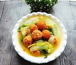 白菜豆腐丸子汤的做法