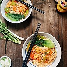 #味达美名厨福气汁,新春添口福#西红柿鸡蛋面