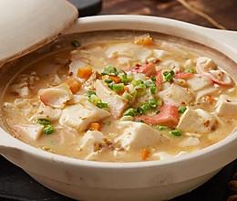 【咸蛋黄豆腐羹】豆腐烧得好,蛋要用得妙!的做法