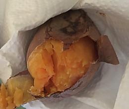 烤山芋的做法