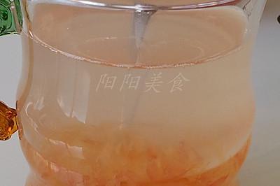 红柚蜂蜜茶--自制冬季去热清火茶