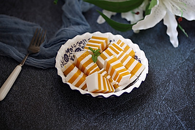 芒果椰浆千层糕#秋天怎么吃#