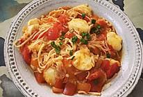 日本豆腐煮番茄金针菇的做法