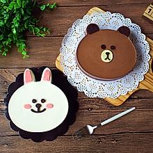 布朗熊&可妮兔(巧克力&酸奶慕斯蛋糕)