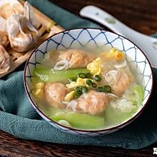 丝瓜鸡蛋肉燕汤|清爽可人
