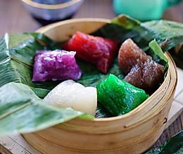 五彩水晶粽子的做法