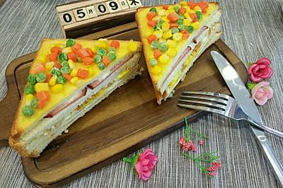 营养早餐-三明治
