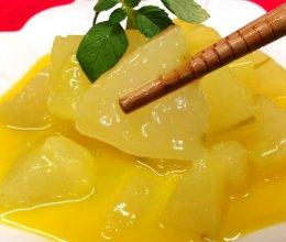 #味达美名厨福气汁,新春添口福#年夜饭上一道甜品,橙汁冬瓜的做法