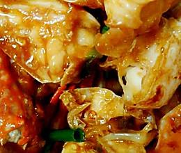 姜葱炒花蟹(梭子蟹)的做法