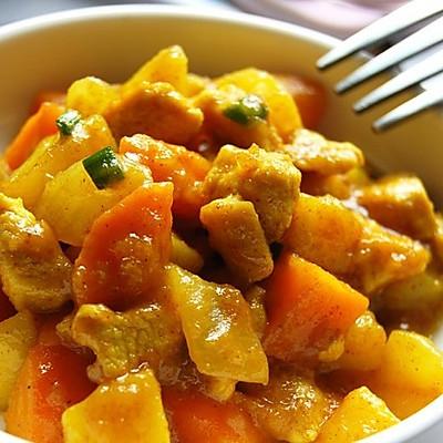 美味咖喱菜-奶香咖喱鸡块